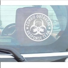 Zombie Outbreak Response Team-Gas Mask Design-Window Sticker for Car,Van,Truck,Vehicle Sign